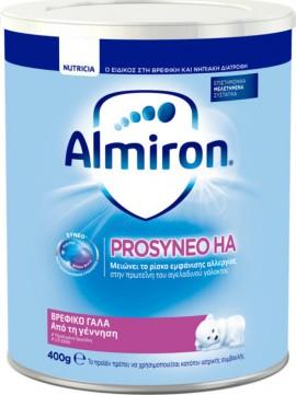 Almiron Prosyneo HA, Γάλα για βρέφη με οικογενειακό ιστορικό αλλεργίας, κατάλληλο από τη γέννηση  400 gr