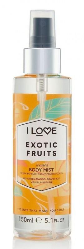 I LOVE Cosmetics Exotic Fruit Body Mist Spray άρωμα σώματος με αρώματα Εξωτικών Φρούτων για όλες τις ώρες 150ml ( 1 τεμάχιο)
