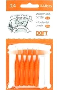 Doft Interdentals Μεσοδόντια Βουρτσάκια TRAVEL 0.4 πορτοκαλί, σε φακελάκι (5 τμχ)