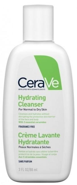 CERAVE Hydrating Cleanser Το CeraVe Hydrating Cleanser Καθαρίζει και Ενυδατώνει Πρόσωπο και Σώμα Χωρίς να Διαταράσσει τον Επιδερμιδικό Φραγμό, 88ml