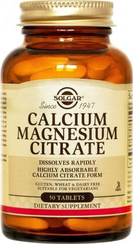 SOLGAR Calcium Magnesium Citrate, 50Tabs