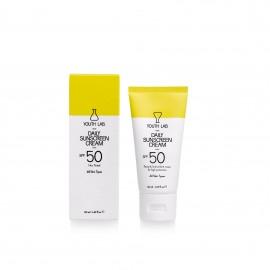 YOUTH LAB Daily Sunscreen Cream Spf 50 - Non Tinted (All Skin Types) Αντιηλιακή Κρέμα Προσώπου Λεπτόρευστη με Βιταμίνη Ε για όλους τους τύπους δέρματο …