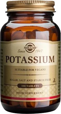 SOLGAR Potassium Gluconate 99mg, 100Tabs