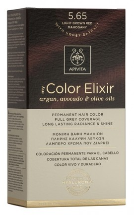 APIVITA My Color Kit N5.65 Καστανό Ανοιχτό Κόκκινο Μαονί, 125ml