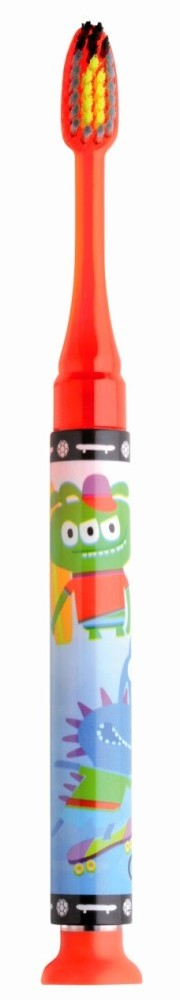 GUM 903 Promo Junior Light-Up Red Soft Παιδική Οδοντόβουρτσα Κόκκινη φωτιζόμενη Μαλακή για ηλικίες 7-9 ετών
