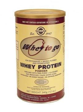 SOLGAR Whey To Go Protein Vanilla Powder, 340gr