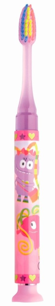 GUM 903 Promo Junior Light-Up Pink Soft Παιδική Οδοντόβουρτσα Ροζ φωτιζόμενη Μαλακή για ηλικίες 7-9 ετών
