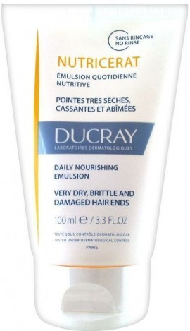 DUCRAY, Nutricerat Émulsion Ultra-Nutritive,  Καθημερινό Γαλάκτωμα Θρέψης μαλλιών για πολύ ξηρές και ταλαιπωρημένες άκρες, 100ml