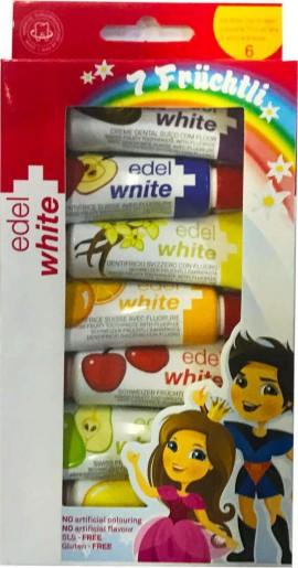 CURAPROX, Edel White Παιδική Οδοντόκρεμα 7 Γεύσεις Φρούτων, 45ml