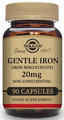 SOLGAR Gentle Iron 20mg, 90Veg.Caps