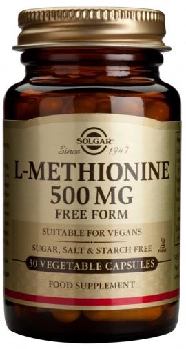 SOLGAR L-METHIONINE 500MG 30VCAP