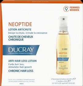 DUCRAY, Neoptide Women Lotion, Λοσιόν για τη χρόνια γυναικεία τριχόπτωση, 3 φιαλίδια των 30ml