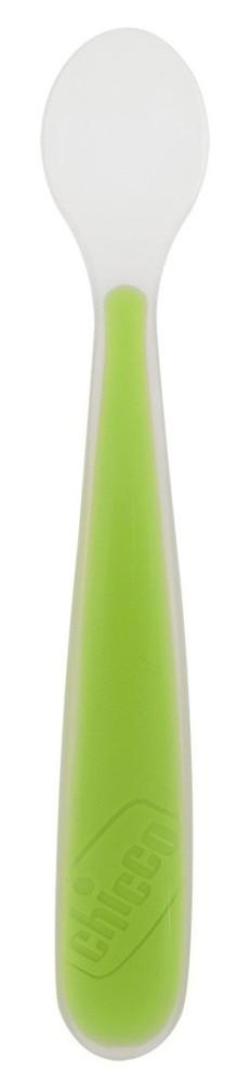 CHICCO Κουτάλι Σιλικόνης Soft 6+ μηνών Πράσινο code 06828-51