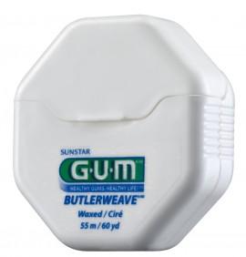 GUM Butlerweave Floss - Waxed 1155 Ελαφρά Κερωμένο Οδοντικό Νήμα 55m
