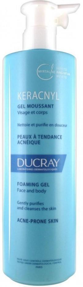 DUCRAY,  Keracnyl Gel Moussant,  Aπαλός Καθαριστικός Αφρός για δέρμα με τάση ακμής, 400ml