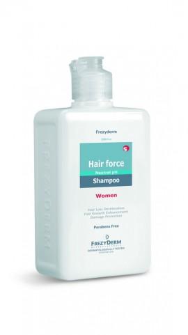 FREZYDERM Hair Force Shampoo Women, Τονωτικό Σαμπουάν για τη Γυναικεία Τριχόπτωση, 200ml