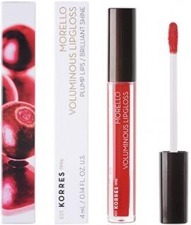 KORRES Morello Voluminous Lipgloss NO54 Real Red με Εξαιρετική Λάμψη και Γεμάτο Χρώμα που Διαρκεί, 4ml