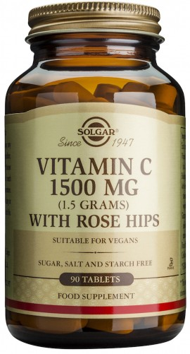 SOLGAR ROSE HIPS C 1500MG 90TAB