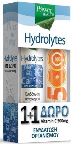 POWER HEALTH Hydrolytes, 20Tabs & Δώρο Βιταμίνη C 500mg, 20Tabs