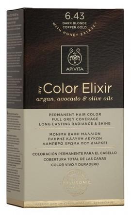 APIVITA My Color Elixir N6.43 Ξανθό Σκούρο Χάλκινο Μελί, 125ml