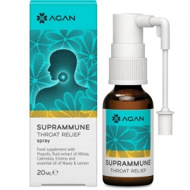 AGAN Suprammune Throat Relief, Σπρέυ για Αντιμετώπιση του Πονόλαιμου & Βραχνάδας, 20ml