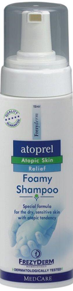 FREZYDERM Atoprel Foamy Shampoo, Eιδικό Σαμπουάν σε μορφή αφρού για ξηρό με ατοπική διάθεση δέρμα, 150ml