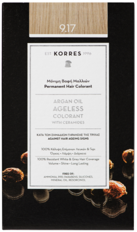 KORRES Argan Oil Colorant NO9.17 Very Light Blonde Beige, 50ml