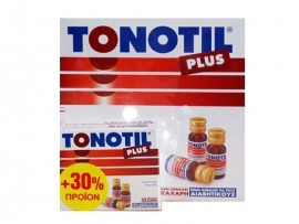 TONOTIL PLUS AMPOULES (10X10ml+30%δώρο) αμπούλες με Καρνιτίνη που προσφέρουν ενέργεια