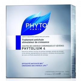 PHYTO PHYTOLIUM 4 Εντατικό συμπύκνωμα κατά της τριχόπτωσης - Έντονη & κληρονομική τριχόπτωση Τριχόπτωση 12 fioles Χ 3,5 ml