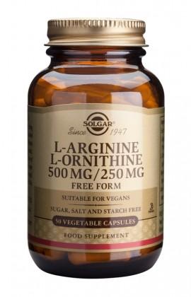 SOLGAR L-ARGININE-L-ORNITHINE 50CAP