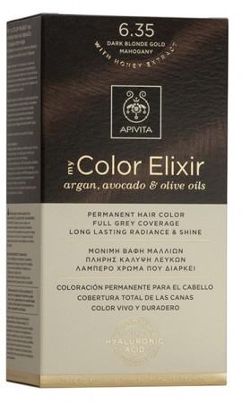 APIVITA My Color Elixir N6.35 Ξανθό σκούρο μελί μαονί, 125ml
