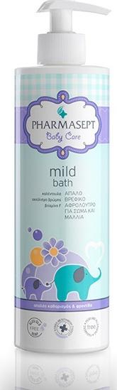 PHARMASEPT Baby Mild Bath , Φυσικό βρεφικό αφρόλουτρο για σώμα & μαλλιά, 500ml