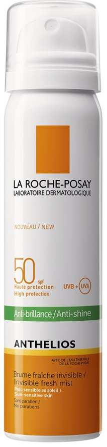 LA ROCHE-POSAY Anthelios  Mist SPF50 Αόρατη Προστασία και Ματ Αποτέλεσμα On The Go, 75ml