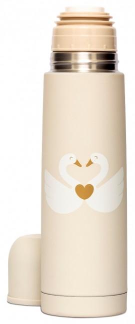 SUAVINEX Swan Collection Θερμός Υγρών 500ml Inox με μαλακή επένδυση Σχέδιο Μπεζ Κύκνοι code 103305579 Beige Swan