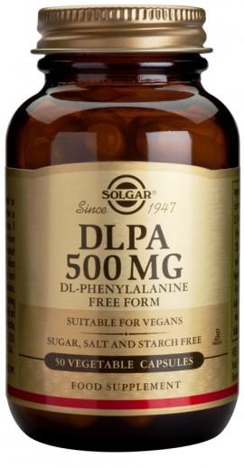 Solgar DLPA 500mg,50caps : Μείγμα L-φαινυλαλανίνης με D-φαινυλαλανίνη, Πρόδρο/μος της ντοπαμίνης & άλλων ενδορφινών, Με αντικαταθλιπτικές ιδιότητες, Β …