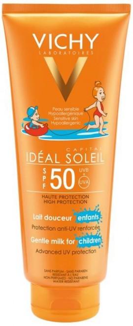 VICHY Ideal Soleil Childrens Milk SPF50 Παιδικό Αντηλιακό Γαλάκτωμα με Ρευστή και Απαλή Υφή, 300ml