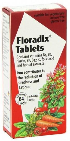 POWER HEALTH Floradix Φυσικός σίδηρος για Τόνωση, 84Tabs