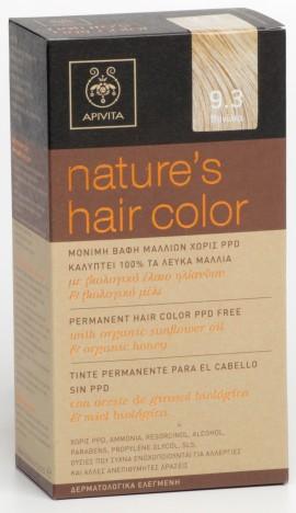 APIVITA Natures Hair Color N9.3 Βανίλια, 125ml