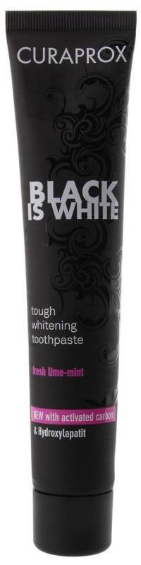 CURAPROX, Black is White Tough Whitening Toothpaste, Λευκαντική Οδοντόκρεμα, 90ml