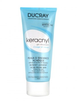 DUCRAY,  Keracnyl Gel Moussant,  Aπαλός Καθαριστικός Αφρός για δέρμα με τάση ακμής, 200ml
