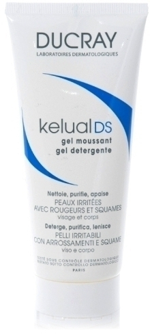 DUCRAY, Kelual DS Gel Moussant ,Αφρίζον Τζελ Καθαρισμού Προσώπου-Σώματος για Ερεθισμένα Δέρματα που Εμφανίζουν Κοκκινίλες 200ml