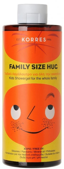 KORRES Family Size Hug Παιδικό Αφρόλουτρο για Όλη την Οικογένεια, 400ml