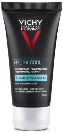 VICHY Vichy Homme Hydra Cool+ Ενυδατικό, Δροσερό Gel με Υαλουρονικό Οξύ, 50ml