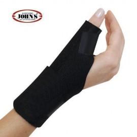 JOΗΝS Sρικα Wrap Around Black Line Στήριξη καρπού και αντίχειρα με μπανέλα one size Χρώμα Μαύρο (1 τεμάχιο) code 120217