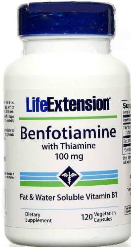 Life Extension Benfotiamine with Thiamine 100mg Συμπλήρωμα Διατροφής με Βιταμίνη Β1 για ενέργεια και τόνωση, 120 κάψουλες