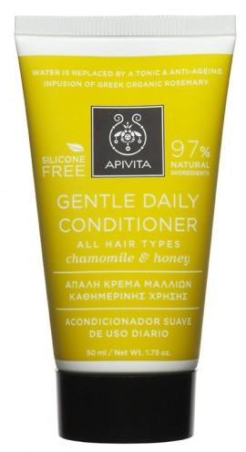 APIVITA Απαλή Κρέμα για Καθημερινή Χρήση για Όλους τους Τύπους Μαλλιών με Χαμομήλι & Μέλι, 50ml