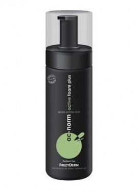 FREZYDERM Ac-Norm Active Foam Plus,Αφρός καθαρισμού & περιποίησης για την ήπια, μέτρια & σοβαρή ακμή. Απομακρύνει σμήγμα, μακιγιάζ & ρύπους, ενώ ενυδα …