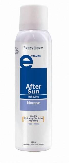 FREZYDERM After Sun Mousse, Ενυδατικός Αφρός Προσώπου και Σώματος Με Αντιερεθιστική και Απαλυντική Δράση, 150ml
