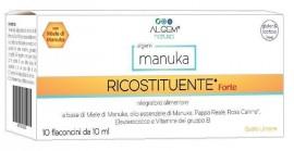 ALGEM Manuka Ricostituente Forte Συμπλήρωμα διατροφής με μέλι Manuka και βασιλικό πολτό για άμεση τόνωση και ενέργεια. (10 αμπούλες x10ml)