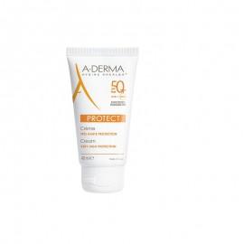 A-DERMA, Protect Creme SPF50+ Sans Parfum, Αντηλιακή Κρέμα Προσώπου Χωρίς Άρωμα Πολύ Υψηλής Προστασίας, 40ml